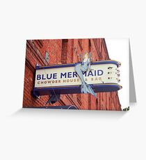San Francisco Blue Memaid Greeting Card
