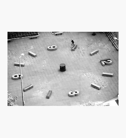 Brad Hendrickson - Backside Tailslide - Downtown - Photo: Sam McGuire Photographic Print