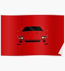 Italian supercar simplistic front end design Poster