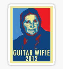 Guitar Wifie for President 2012 Sticker