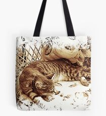 The Cat Napper Tote Bag