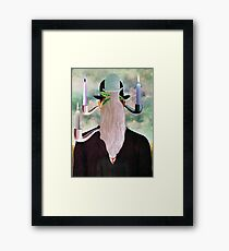 This is Not a Man & Woman with a Pipe. Framed Print