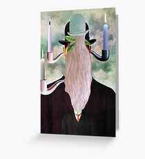This is Not a Man & Woman with a Pipe. Greeting Card