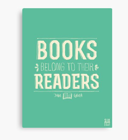 Books Belong To Their Readers Canvas Print