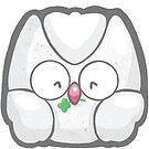 Lucky Owl White by TinySkye
