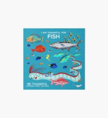 I Am Thankful For Fish Art Board