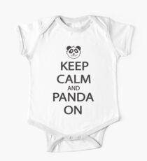 Keep Calm and Panda On Baseball Shirt Kids Clothes
