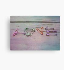 Love Pins Canvas Print