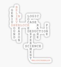 #BELIEVEINSHERLOCK WORD-PUZZLE v.2 Sticker