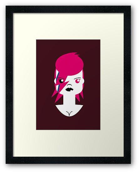 Bowie, Ziggy Stardust by Marco Recuero
