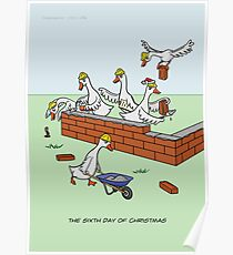 The Sixth Day of Christmas (6 Geese a-Laying) Poster