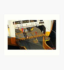 """"""" Another refit for Falmouth Docks"""" Art Print"""