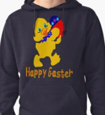 ㋡♥♫Happy Easter  Blue Eyed Chicken Clothing & Stickers♪♥㋡ Pullover Hoodie