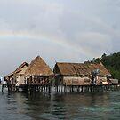 Rainbow at Pulau Gam. by Reef Ecoimages