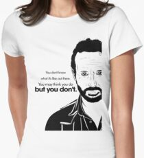 Rick's Famous Words (Black) Women's Fitted T-Shirt