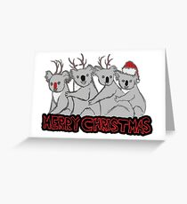 koala kristmas  Greeting Card