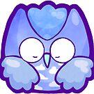 Lucky Owl Blue by TinySkye