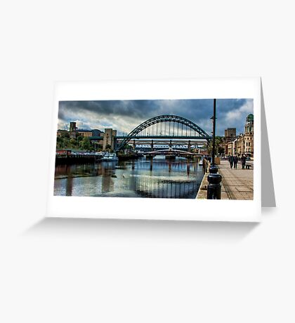 Along The Quayside Greeting Card