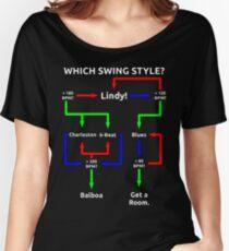Swing Dance Flowchart Women's Relaxed Fit T-Shirt