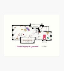 Breakfast at Tiffany's Apartment Floorplan Art Print