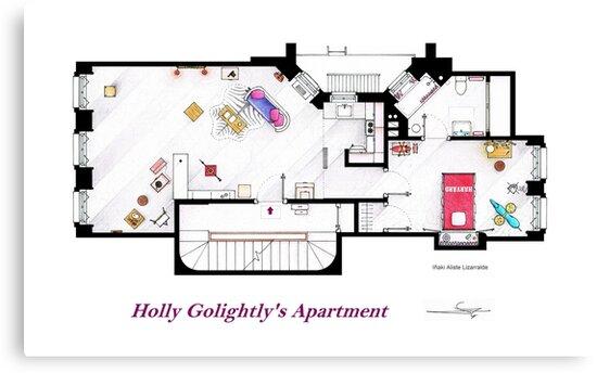 Breakfast at Tiffany's Apartment Floorplan by Iñaki Aliste Lizarralde