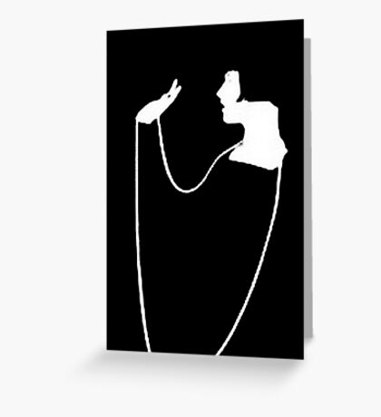 The Pearl Necklace Art Nouveau Flapper Greeting Card