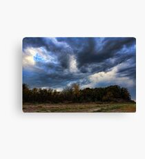 Over The Top Clouds Canvas Print
