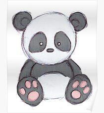 Cute Panda Drawing  Poster