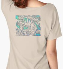 Tiger in Teal  After Franz Marc Women's Relaxed Fit T-Shirt