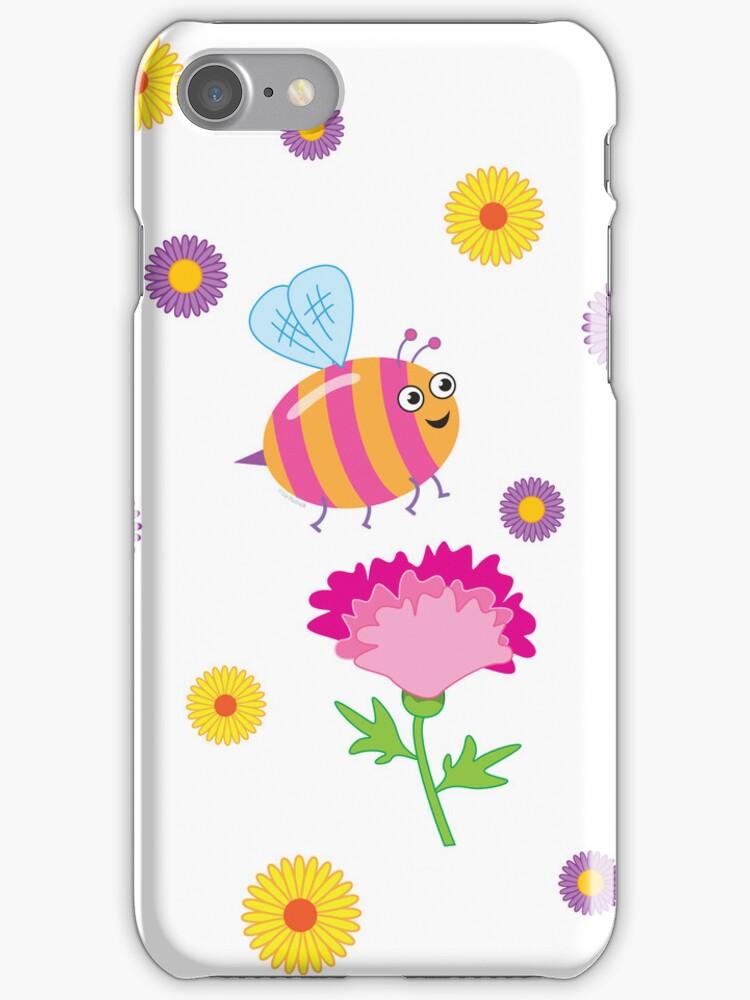 Bee a Flower by LizHutnick