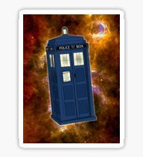 TARDIS in Space II Sticker