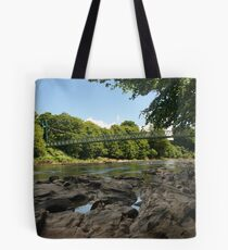 Sion Mills Footbridge Tote Bag