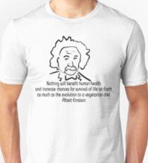 Vegetarian Quote Albert Einstein Unisex T-Shirt