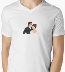 Mr. Darcy and Elizabeth Men's V-Neck T-Shirt
