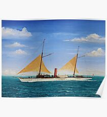 Steamship Yacht Oneida Poster
