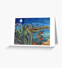 New Moon, New Quay Greeting Card