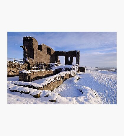 Kendal Castle in Winter Photographic Print