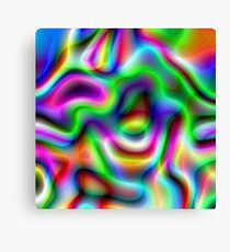 Psychedelic Rainbow Abstract Pattern Canvas Print