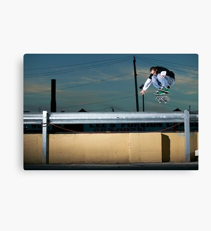 John Methvin - Heelflip - Photo Sam McGuire Canvas Print