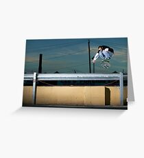John Methvin - Heelflip - Photo Sam McGuire Greeting Card
