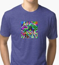 Psychedelic Rainbow Abstract Pattern Tri-blend T-Shirt