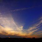 Autumn Sunset, October,High Coniscliffe, England.  by Ian Alex Blease