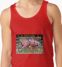 Riot of Colour Christmas Card with Cones Tank Top