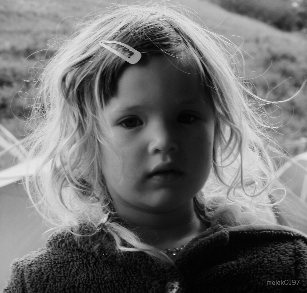 Child portrait B&W by melek0197