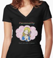 RAIN - Pansexuality Women's Fitted V-Neck T-Shirt