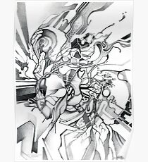 Enter the Branching Sequence - Sketch Pencil Illustration Poster