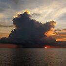 Morning Cumulus at Pulau Pulau Yeben. by Reef Ecoimages