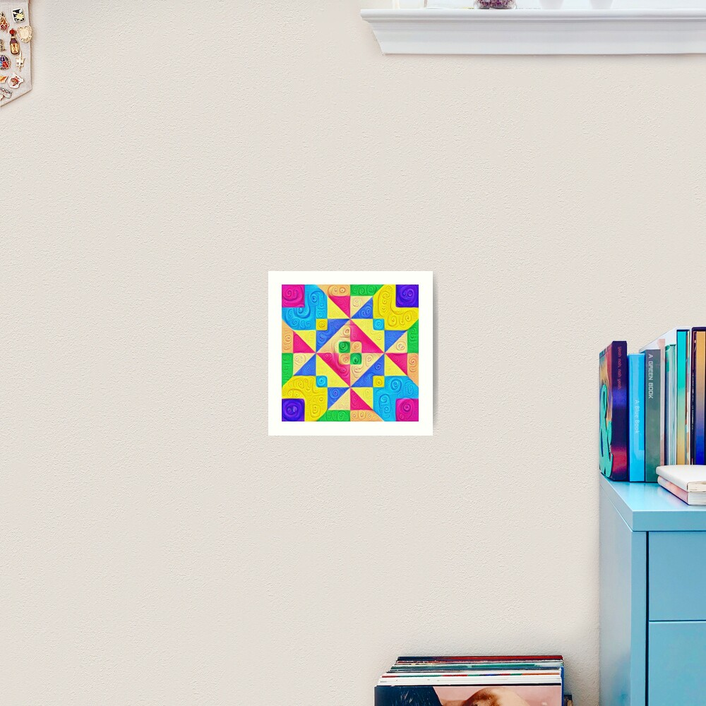 #DeepDream Color Squares Visual Areas 5x5K v1448168644 Art Print