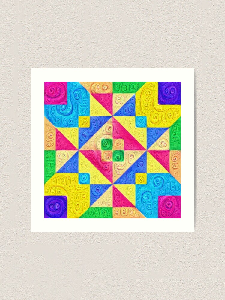 Alternate view of #DeepDream Color Squares Visual Areas 5x5K v1448168644 Art Print