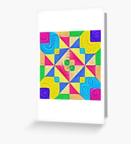 #DeepDream Color Squares Visual Areas 5x5K v1448168644 Greeting Card